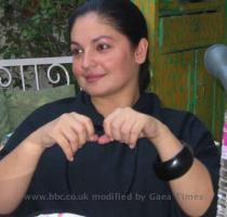 Pooja Bhatt waits to speak