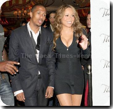 Nick Cannon with wife/singer Mariah Carey celebrates his 29th Birthday at The Bank nightclub - Bellagio Resort Hotel Casino.