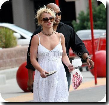 Britney Spears leaving Target after enjoying a day of shopping.