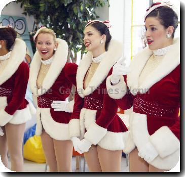 Synthia Link, Sierra Ring, Samantha Berger and Christina Hedrick of The Rockettes from the Radio City Christmas Spectacular show, visit Martha's Table to promote their show in Washington DC metropolitan area in December 2009 for the first time. They spoke to children at about talked about what it is like to be a world famous Rockette.Washington DC.