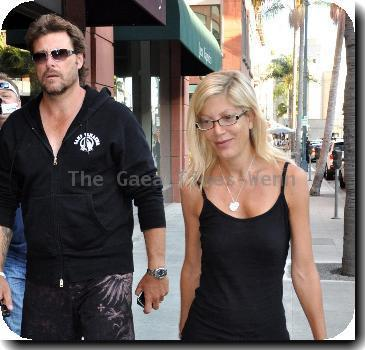 Tori Spelling and husband Dean McDermott leaving a medical building in Beverly Hills Los Angeles.