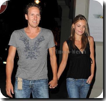 Brendan Cole leaving the Mayfair Hotel with model girlfriend Zoe Hobbs..