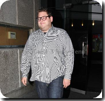 American actor Jonah Hill leaving the Southbank.London.