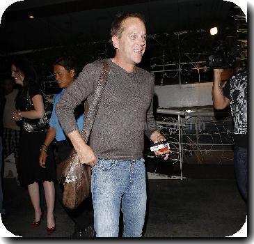 Kiefer Sutherland  leaving Madeo restaurant.