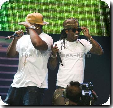 Lil Wayne  performing at Bank Atlantic Center.