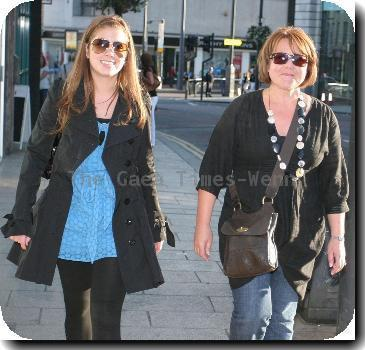 Wendy Peters out and about in Leeds city centre.