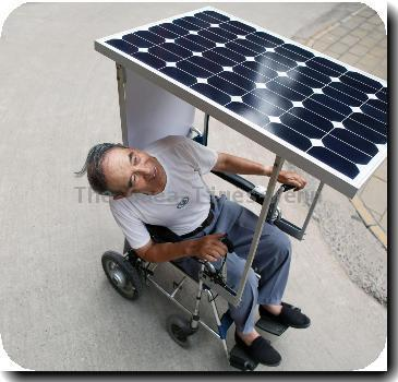 Solar-powered wheel chair