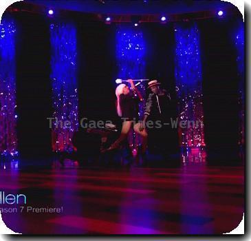 Lady Gaga performs 'Love Game' on NBC's 'The Ellen DeGeneres Show' USA - 08.09.09 Supplied by WENN.com   Credit: IANS-WERNN