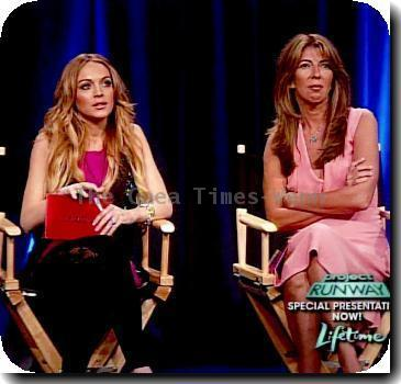 Heidi Klum and the special guest judge, Lindsay Lohan The premiere episode of 'Project Runway' Season 6 as seen on Lifetime USA –