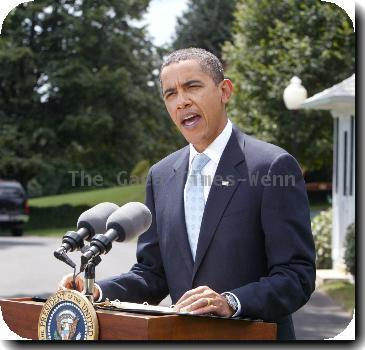 President Barack Obama speaks briefly on Afghanistan
