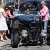 Sylvester Stallone drives his Hot Rod around Beverly HillsLos Angeles.