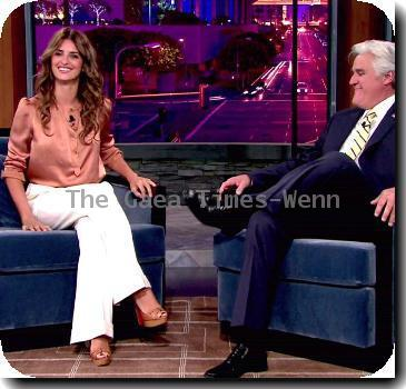 Penelope Cruz promotes her upcoming new film 'Nine' on NBC's 'The Jay Leno Show'USA