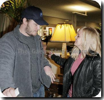 Anna Faris and her husband, Chris Pratt