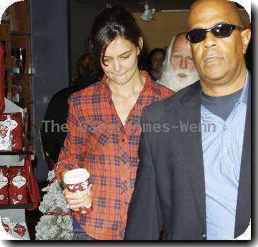 Katie Holmes out shopping in Beverly Hills.