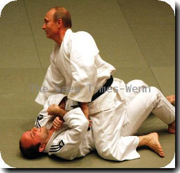 Putin shows Olympic judo team his moves Russian Prime Minister Vladimir Putin takes part in practise sessions for the country's Olympic judo team.   The 57-year-old politician refused to be outdone by the youngsters and showed them a few moves of his own, pinning down one daring martial artist as he demonstrated his self defence skills.   And Putin was willing to share more of his talents with them, telling the team's trainer,