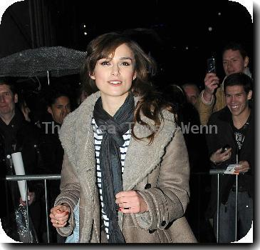 Keira Knightley leaving the Comedy Theatre after her performance of the new West End production 'The Misanthrope'London.