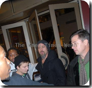 Brad Pitt and Pax Thien