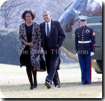 Michelle Obama and President Barack Obama