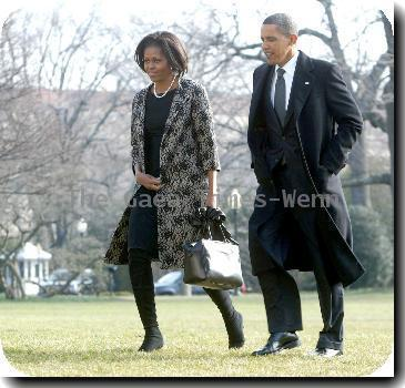Michelle Obama and President <b>Barack Obama</b>