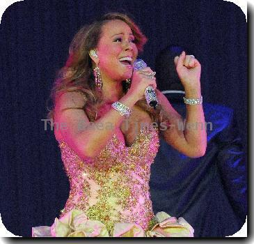 Mariah Carey performs during 'The Angels Advocate Tour' at Hard Rock Live at the Seminole Hard Rock Hotel & CasinoHollywood.
