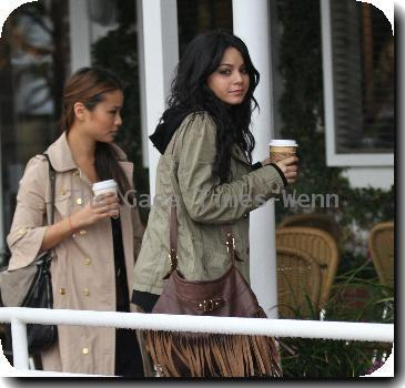 Vanessa Hudgens shopping at Fred Segal with a friend, despite the rainy weatherLos Angeles.