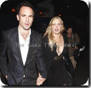 Paul Blackthorne and Daryl Hannah leaving La Vida restaurant in Hollywood after attending a party thrown by Quentin Tarantino.