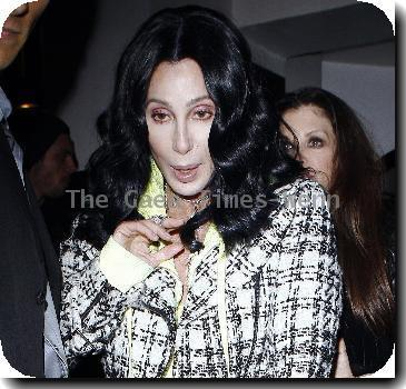 Cher leaving La Vida restaurant in Hollywood after attending a party thrown by Quentin Tarantino.