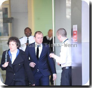 Wayne Rooney leaving court after giving evidence as he fights a legal bid demanding he hand over £4.3m of his earnings Manchester.