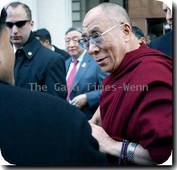 Fans await the arrival of The Dalai Lama The Dalai Lama holds a brief press conference outside his hotel after meeting President Barack Obama and Secretary of State Hillary Clinton Washington DC.
