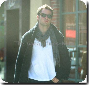 Chris Pine leaving a pharmacy in Beverly Hills Los Angeles, California.