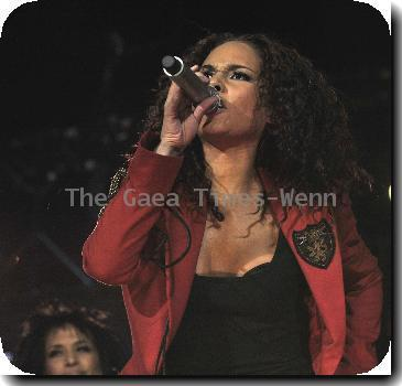 Alicia Keys performing live at The Air Canada Centre. Toronto.
