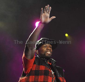 50 Cent performing live at the O2 Arena Dublin, Irel;and