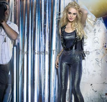 Lindsay Lohan appears in an advert for her 6126 clothing lineUSA
