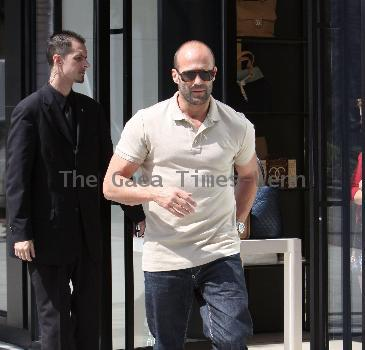 Actor Jason Statham  leaving the Chanel Store Beverly Hills, California.