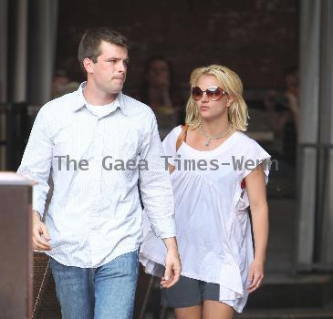 Britney Spears goes to the Abbey restaurant with her bodyguard in West HollywoodLos Angeles.