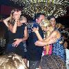 Paris Hilton partying in the Byblos Hotel and nightclub.  Paris ordered 10 methuselah (6L) bottles of Cristal champagne for her party at a cost of 35,000 Euros per bottle. Saint Tropez.