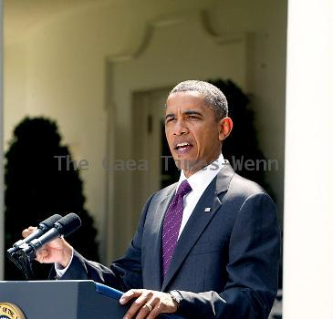 President Barack Obama delivers a statement to the press on the Senate campaign finance reform votein The Rose Garden at The White HouseWashington DC.
