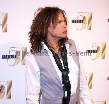 Steven Tyler of Aerosmith  hosts an aftershow party at MGM Grand's Studio 54 Las Vegas, California.