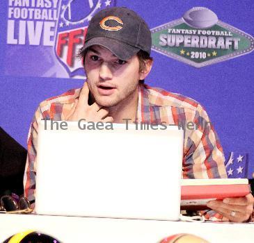 Ashton Kutcher attends Fantasy Football SUPER DRAFT at Palms Hotel Casino. Las Vegas.