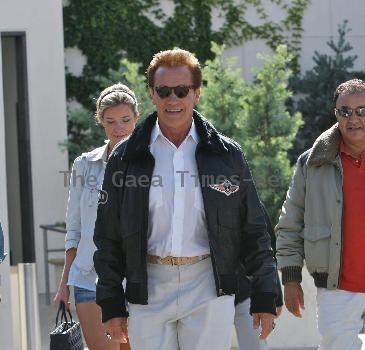 Arnold Schwarzenegger seen out and about Beverly Hills Los Angeles.