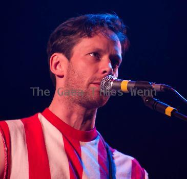 Yan of  British Sea Power performs on stage at City HallHull.