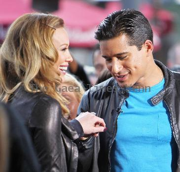 Hilary Duff and Mario Lopez