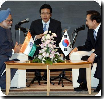 Lee Myung-bak,Manmohan Singh