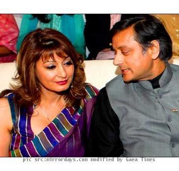 Sashi Tharoor and Sunanda Pushkar
