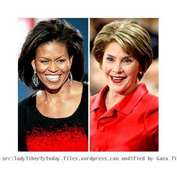 Laura Bush, Michelle Obama