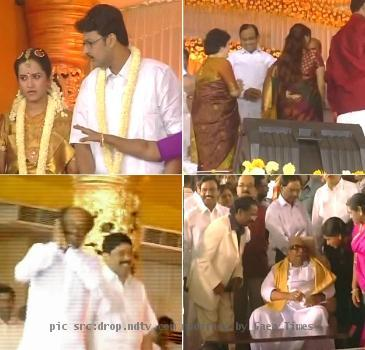 M.K. Alagiri's son wedding