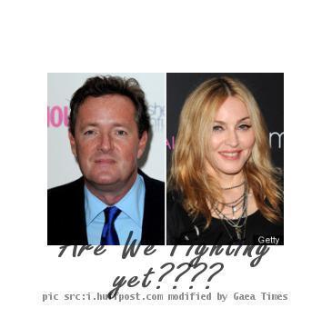 Piers Morgan and Madonna