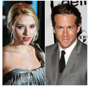 Scarlett Jhonsson and Ryan Reynolds