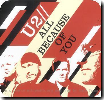 Alternate cover to the U2 single All Because of You