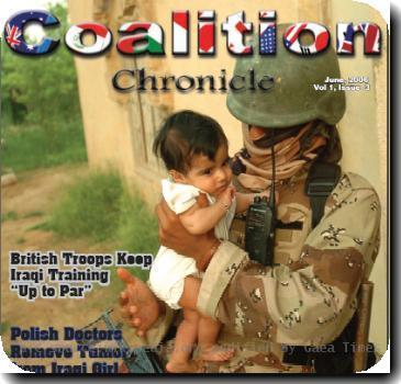 Cover of the Multi-National Corps Iraqs Coalition Chronicle for June, 2006